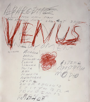 Cy Twombly. Venus, 1975