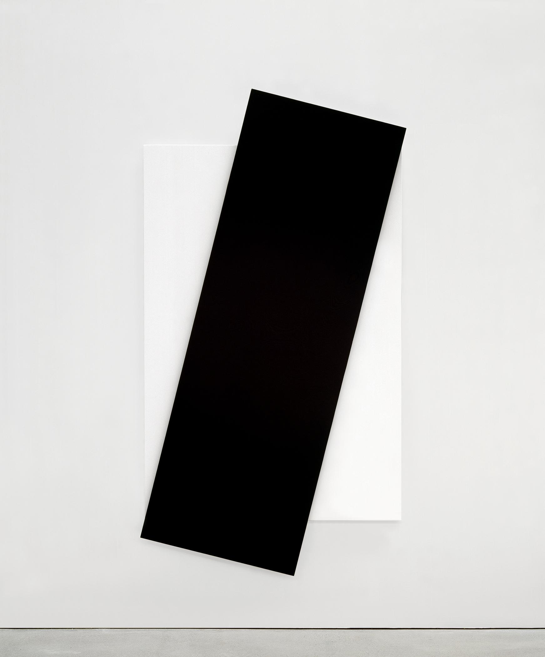 Ellsworth Kelly, Black Diagonal, 2007, . Oil on canvas, Private collection