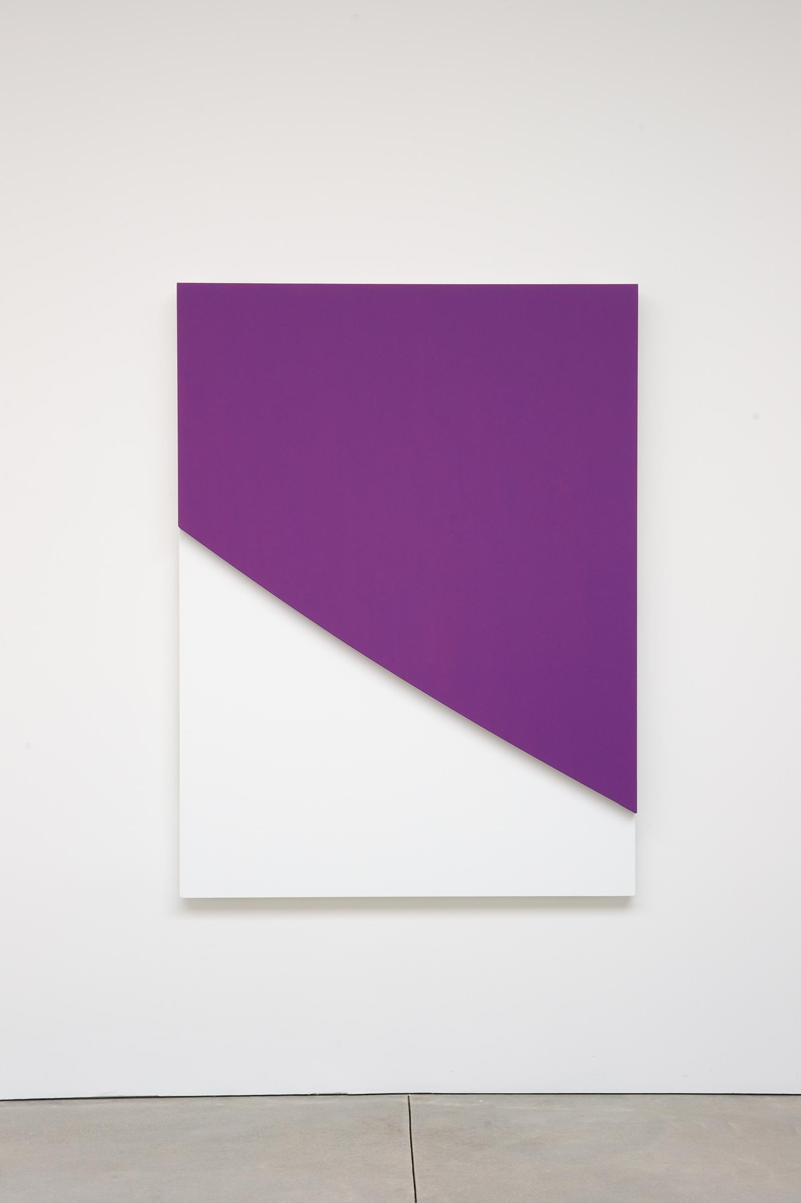 Purple Curve in Relief, 2009. Oil on canvas, two joined panels