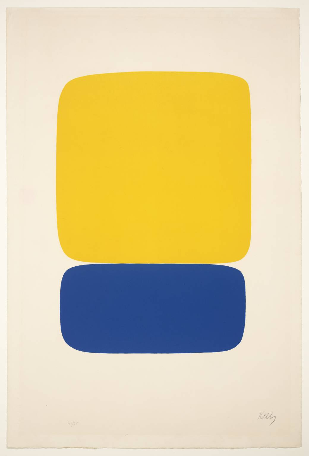 Yellow over Dark Blue 1964-5 Ellsworth Kelly born 1923 Presented by Mary Martin in memory of her husband Bill Morton 1989 http://www.tate.org.uk/art/work/P11222