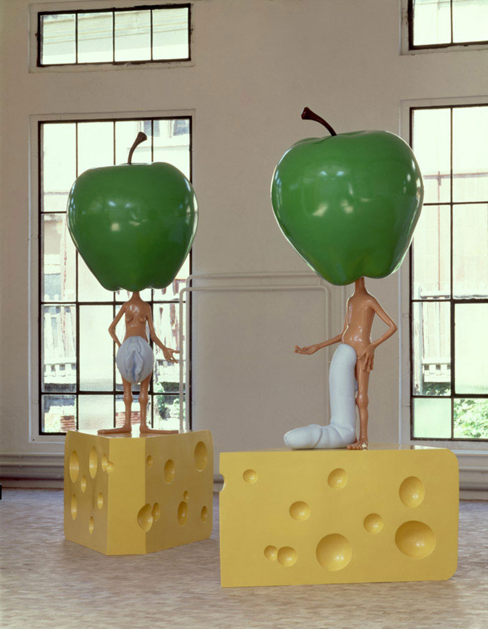 Appleheads-(on-Swiss-cheese),-1998