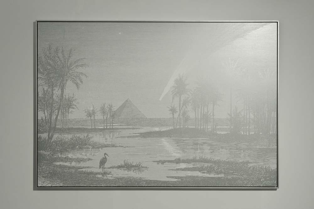Rétroprojection, 2012, sérigraphie argent sur papier contrecollée sur aluminium, 138 x 199 cm.jpg